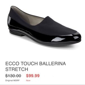 Ecco Black Patent Leather Loafers Flats